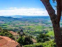 Ansicht Val di Chianas, in Toskana, Italien stockfotos