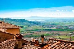 Ansicht Val di Chianas, in Toskana, Italien stockfotografie
