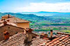 Ansicht Val di Chianas, in Toskana, Italien lizenzfreie stockfotografie