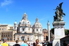 Ansicht vom Altar des Vaterlands in Rom, Ita Stockfotografie