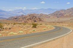 Ansicht vom alten Spanischen schleppen Landstraße, Nevada, USA stockfotos