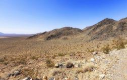 Ansicht vom alten Spanischen schleppen Landstraße, Nevada, USA lizenzfreies stockfoto