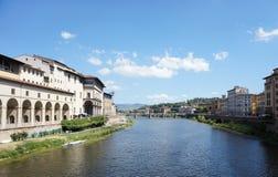 Ansicht vom Arno in Florenz stockfoto