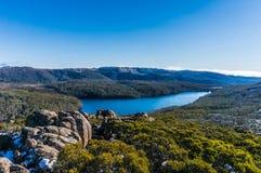 Ansicht vom Ausblick am Berg-Feld-Nationalpark stockbild