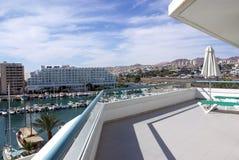 Ansicht vom Balkon Stockfotos