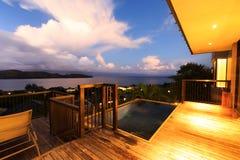 Ansicht vom Balkon lizenzfreies stockbild
