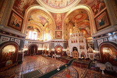 Ansicht vom Balkon auf Halle innerhalb der Kathedrale Lizenzfreie Stockfotos