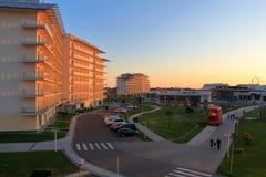 Ansicht vom Balkon im Sochi-Hotel-Park Russland Stockfotos
