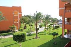 Ansicht vom Balkon, karibische Welt Soma Bay 5*, Ägypten Lizenzfreies Stockbild