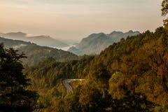 Ansicht vom Berg Lizenzfreie Stockfotografie