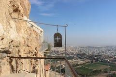 Ansicht vom Berg der Versuchung Stockbild