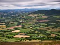 Ansicht vom Berg Leinster, Mittel-Irland Stockbilder