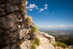 Ansicht vom Berg Lovcen Lizenzfreies Stockfoto
