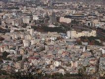 Ansicht vom Berg Mtatsminda über Tiflis (Georgia) Lizenzfreies Stockbild