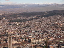Ansicht vom Berg Mtatsminda über Tiflis (Georgia) Stockbilder