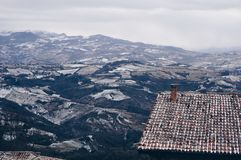 Ansicht vom Berg San Marino Lizenzfreies Stockbild