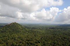 Ansicht vom Berg Sigiriya Lizenzfreies Stockfoto