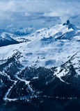 Ansicht vom Blackcomb Berg Lizenzfreie Stockfotos