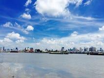 Ansicht vom Chao Phraya Fluss Lizenzfreies Stockfoto