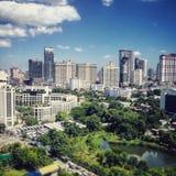 Ansicht vom Chao Phraya Fluss Stockbilder