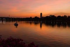 Ansicht vom Chao Phraya Fluss Lizenzfreie Stockfotografie