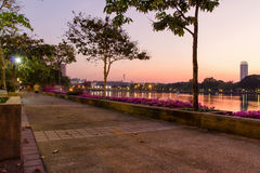 Ansicht vom Chao Phraya Fluss Stockbild