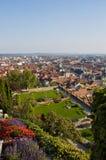 Ansicht vom clocktower nach Graz Lizenzfreies Stockfoto