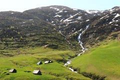 Ansicht vom D926 im Isere, französische Rhône-Alpes lizenzfreie stockfotografie