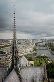 Ansicht vom Dach des Notre-Dame de Paris Stockfotografie