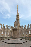Ansicht vom Dach von Milan Cathedral Duomskogo lizenzfreie stockfotografie