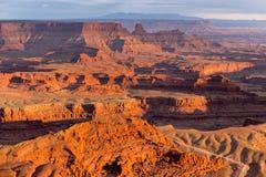 Ansicht vom Deadhorse-Punkt-Nationalpark Lizenzfreie Stockfotos
