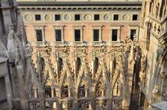 Ansicht vom Duomo Milan Italy Lizenzfreies Stockbild