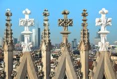 Ansicht vom Duomo Milan Italy Stockfotografie