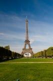 Ansicht vom Eiffelturm Stockbild
