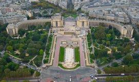 Ansicht vom Eiffelturm stockbilder