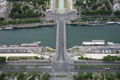 Ansicht vom Eiffelturm Stockfotografie