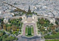 Ansicht vom Eiffelturm auf Trocadero Stockfotografie