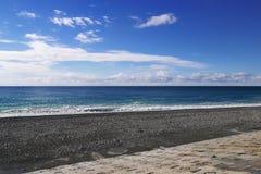 Ansicht vom embakment auf dem Schwarzen Meer, Adler, Russland Stockfotografie