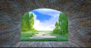 Ansicht vom Ende eines Tunnels Stockfoto