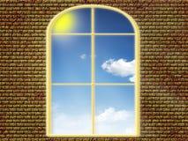 Ansicht vom Fenster lizenzfreie abbildung