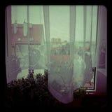 Ansicht vom Fenster Stockbilder