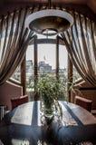 Ansicht vom Fenster in der Mitte von Moskau Lizenzfreies Stockfoto