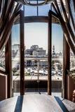 Ansicht vom Fenster in der Mitte von Moskau Lizenzfreie Stockfotos
