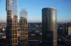 Ansicht vom Fenster des Gebäudes des Moskau-International Lizenzfreie Stockfotos