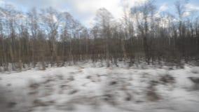 Ansicht vom Fenster eines beweglichen Zugs stock video footage