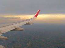 Ansicht vom Fensterflugzeug Lizenzfreie Stockfotografie