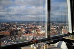 Ansicht vom Fernsehturm Stockbilder