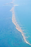 Ansicht vom Flugzeug über Venedig Lizenzfreie Stockbilder