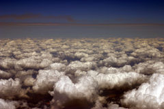 Ansicht vom Flugzeug lizenzfreie stockfotos