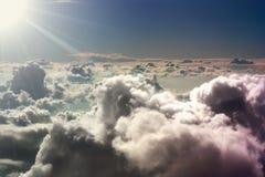 Ansicht vom Flugzeug. Lizenzfreies Stockfoto